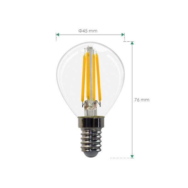 E14 Golf Bulb 4w bulb led