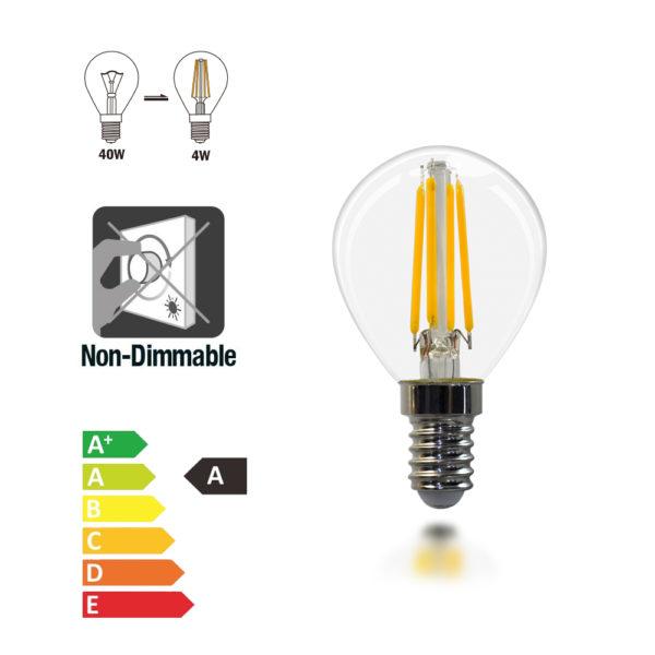 E14 Golf Bulb 4w led bulbs